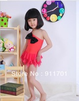 Fashion one-piece dress y1351 child swimwear small female child swimwear,A02,1318
