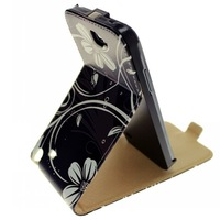 Colorful Flower Butterfly Flip Leather Stand Case For Samsung Galaxy Note II 2 N7100 With Magnet Free Shipping