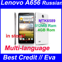 "in stock Original Lenovo A656 phone mtk6589 quad core 5.0""  512MB Ram 4GB Rom  android phone 5.0MP 3G dual sim mobile phone/ Eva"
