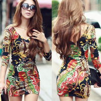2013 sexy autumn sexy fancy 's charming slim hip slimming one-piece dress street basic skirt