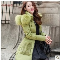 The new fashion 2013 winter clothing, women costly heavy hair collar, sunflower fur long, cultivate one's morality down jacket