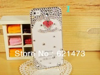 Luxury Bling Phone Accessories 3D Diamond DIY Back Case Cover For iphone5 5s