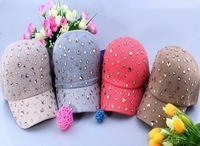 Rivet Stud Women Winter Hats  Warm Fashion Casual Cotton Sports Cap Pop hats  Adjustable Size Free shipping Candy color H27