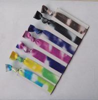 2013  hot  tie dye FOE  hair ties foldover  elastic hair ties wholesale  100 pcs//ot   free  shipping