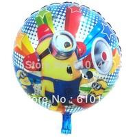 10pcs/lot 18inch Minion Balloon Cartoon Aluminum foil balloon,Helium balloon