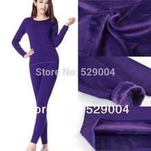Plus thick velvet bamboo fiber+cotton, 100% high quality brand assurance! women's Long Johns, women's thermal underwear(China (Mainland))