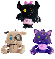 2013 *Monster High* CRESCENT, WATZIT, COUNT FABULOUS PLUSH DOLL PET SET