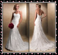 2014 New White/Ivory Bridal Dress Mermaid Wedding Dress Stock Size 6 8 10 12 14 16