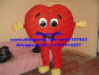Red Heart Mascot Costume Fancy Dress Cartoon Character Mascotte Mascota Suit No.3684 Free Shipping