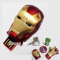 2013 New arrival! The Avengers-Iron Man USB Flash Drive, Guaranteed full capacity! 1GB/2GB/4GB/8GB, DHL free shipping!