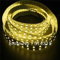 double row 16FT 5M DC12V/24V Led Strip SMD 5050 120Led/m Strip light 600Leds Flexible lighting Non-waterproof- Pure white