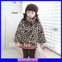 Baby Girls coat kids children leopard parkas winter girls outwear 1210 B csl
