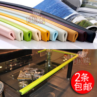 Free shipping 2m New Baby bumper strip Baby Safety Corner protector Glass Table Edge Corner Guards Cushion Strip with 3M Sticker