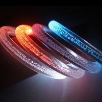 Acrylic flash bracelet colorful bracelet luminous led crystal concert supplies