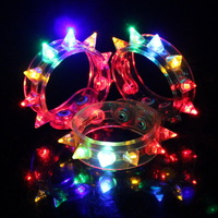 Rivet fashion punk bracelet luminous led luminous bracelet lamp hand ring ktv supplies