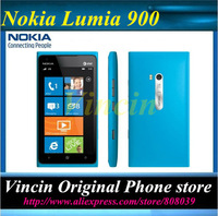 "Original Unlocked Lumia 900 Windows 7.5 GPS 4.3""Touchscreen 8.0MP internal 16GB Phone Refurbished"