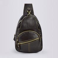 genuine leather men's chest pack  messenger bag shoulder bags  for man women's bag