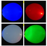 Free Shipping Fedex IE Factory wholesale 400pcs/lot Led Latex balloons for Wedding and Party Decoration (Random mix colors)