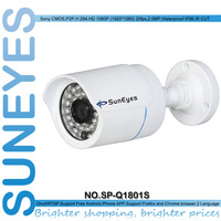 SunEyes ONVIF  2.0MP 1920*1080P Full HD  IP Camera Outdoor SONY Sensor Mini Bullet Network Camera IR Night  Low Lux SP-Q1801S