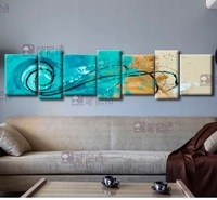 Framed abstract oil painting wall picture modern decorative canvas painting home decor