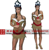 Free 2013  Halloween Costume Indian manufacturers to supply the Indian girl clothing Role-playing clothing female models