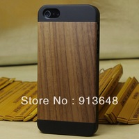 new! Hot selling,walnut wood ,maple wood ,cherry wood with maple phone case for iphone 5s 5,3 kinds of styles Free Shipping