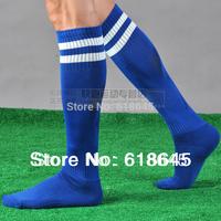 Free Shipping  Soccer Socks men's Football stocking Knee High Training sports Thicken Towel Bottom