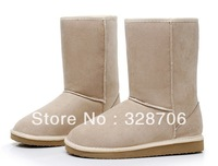 New arrival FREE SHIPPING 2013 thickening snow cotton warm boots shoes knee-high [seven color to select]  XZ066