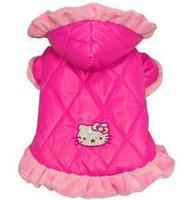 Hot Sale High Fashion  Hello kitty pet coat  winter dog coat Christmas  size:XS-XL