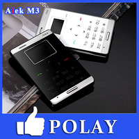 AIEK M3 Ultra Thin Card Cool Mini Touch GSM Cell Mobile phone Low Radiation MP3 Russian English French German Spanish Swedish