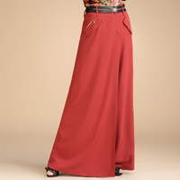 Claretred wide leg pants casual pants feet culottes trousers winter women's 2013 k107a13