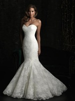 Sumptuous Trumpet/Mermaid Sweetheart Chapel Dasha's Wedding Dress with Beadings(Free Shipping)