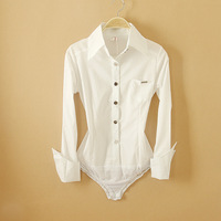 Long-sleeve shirt one piece shirt women's S, M, L, free shipping