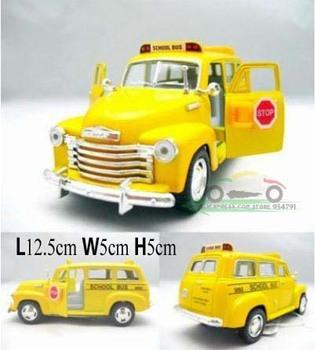 Mini Kids Toys Car Classic Vintage Alloy Car Model Wholesale Free Shipping 1:36 Chevrolet Suburban 1950 School Bus Pull Back