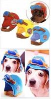 FEDEX Free Shipping 500pcs/lot new item on show! Pet motorcycle helmet pilot cap hat locomotive cap 3 sizes 3colors
