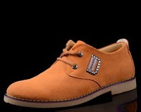 Free shipping British Style nubuck leather shoes men big size EU 38-46 from manufacturer