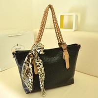 New 2013 women messenger bag fashion OL wild ostrich pattern scarf handbag shoulder bag big bag free shipping handbags