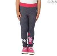 Free shipping! Peppa Pig girl girls Blue Embroidery Jeggings JEGGINGS leggings pants 9 pcs/lot