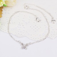"""Anklet 10Inch 10"""" Anklets Factory Price 925 Silver Anklets Fashion Jewelry Solid Silver Anklet CA008"""