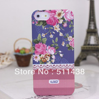 1 piece CATH Retro Pastoral flowers series luxury cover case for iphone 5 5s 5g Drop Ship