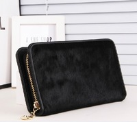 New 2013 women messenger bags  famous brands women genuine leather horsehair carteira feminina crina genuine leather wallets
