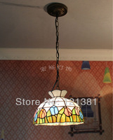 "12""W Tiffany Style Tulip Pendant Lamp Home Lighting Stained Glass Lampshade Hanging Lights Leaded Lamps Handmade"