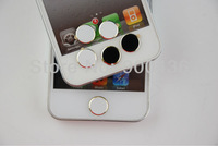 Hot new! DHLFree shipping 500pcs/lot For iphone5S / Ipad /ipod/ Aluminum Alloy gold Metal home button sticker