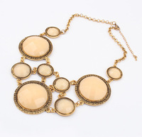 Min.order is $20 (mix order) European and American retro fashion short necklace cxt91713
