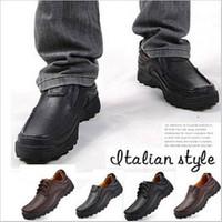 men's comfortable nubuck genuine leather cowhide shoes men flat heel vintage style casual leather shoes