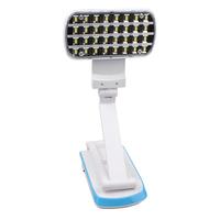 32 SMD LED Foldable Rechargable Desk Table Lamp Light White 360 Degree