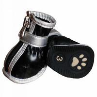 Free shipping Pet soft type PU pvc slip-resistant waterproof dog shoes pet shoes pet shoes dog shoes wellsore shoes