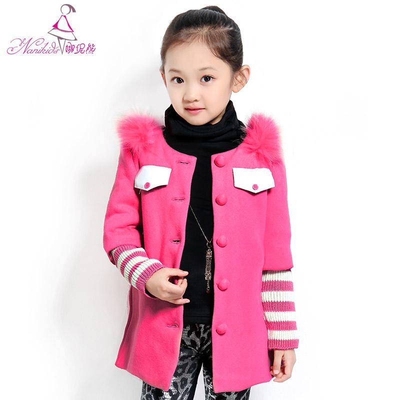Winter children's clothing female child autumn and winter 2013 sweatshirt outerwear child thickening casual overcoat(China (Mainland))