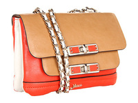 2013 new arrival fashion patchwork women leather handbags 3colors Free shipping