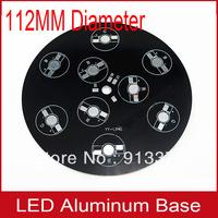 5pcs free shipping 9W 3 tandem 3 parallel RGB led aluminum base board led PCB Board for underground light 112mm diameter